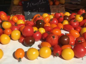 Nice street market tomatoes