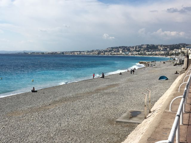 The beach of Nice