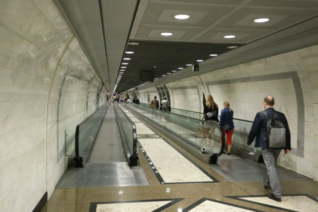 Tunnel to Monaco railway station
