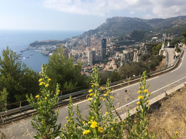View of Monaco from the mountain