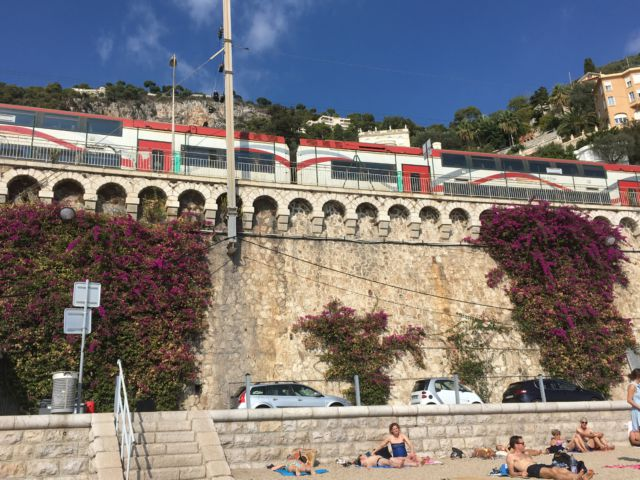 Walk around Cap-Ferrat, Villefrance train station