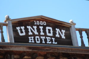 Los Alamos California Union Hotel sign