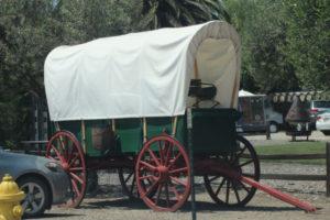 Los Olivos California horse wagon