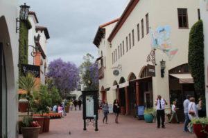 Santa Barbara pedestrian street