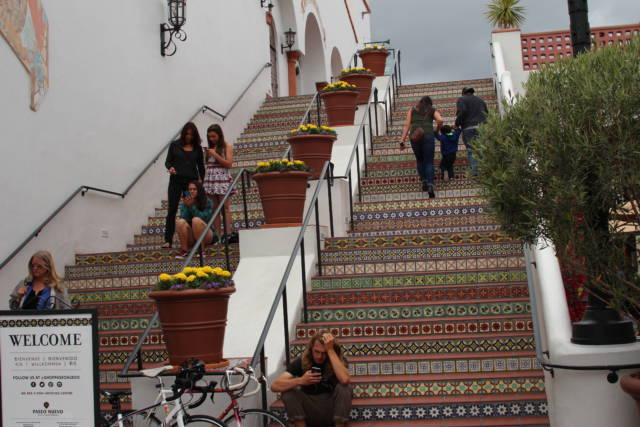 Santa Barbara tile stairs