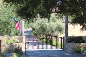 Santa Ynez Valley winery gate