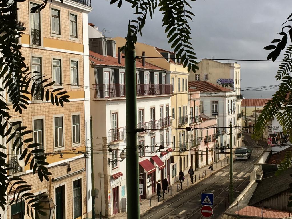 Alfama Lisbon street view