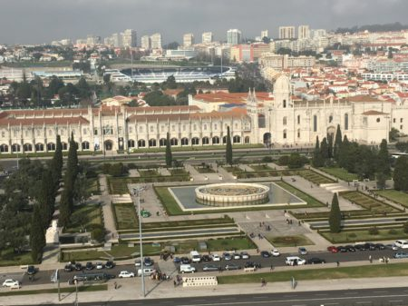 Belem waterfront from the Monument to the Discoveries