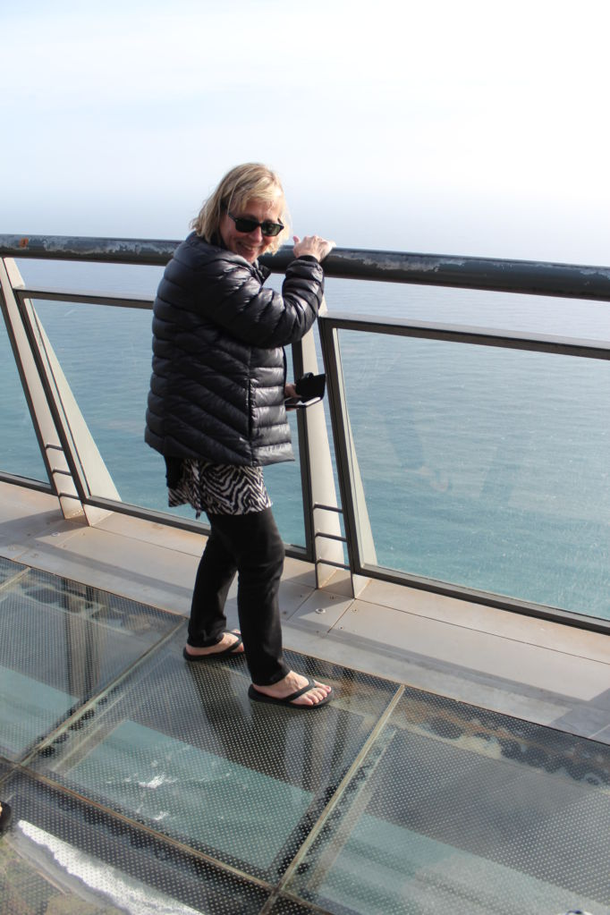 Driving in Madeira, Cabo Girao viewpoint with glass floor