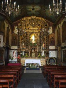 Camara de Lobos fishing village chapel