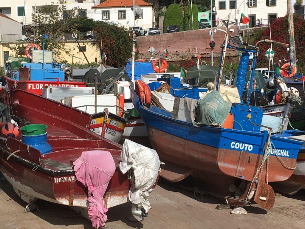 Driving in Madeira: Camara de Lobos fishing boats