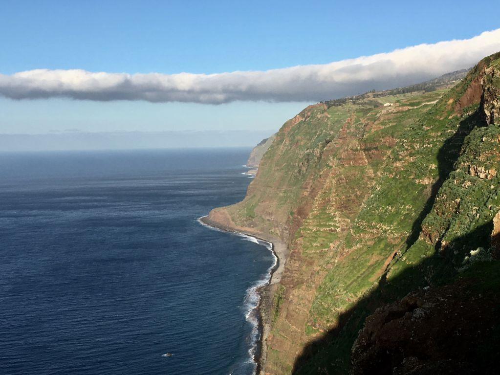 Coast view from Ponta do Pargo lighthouse
