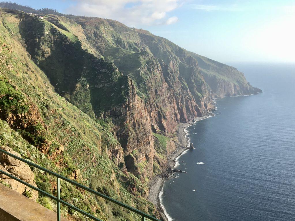 Western Madeira coast from Ponta do Pargo viewpoint
