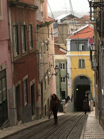 Elevador da Bica route Lisbon