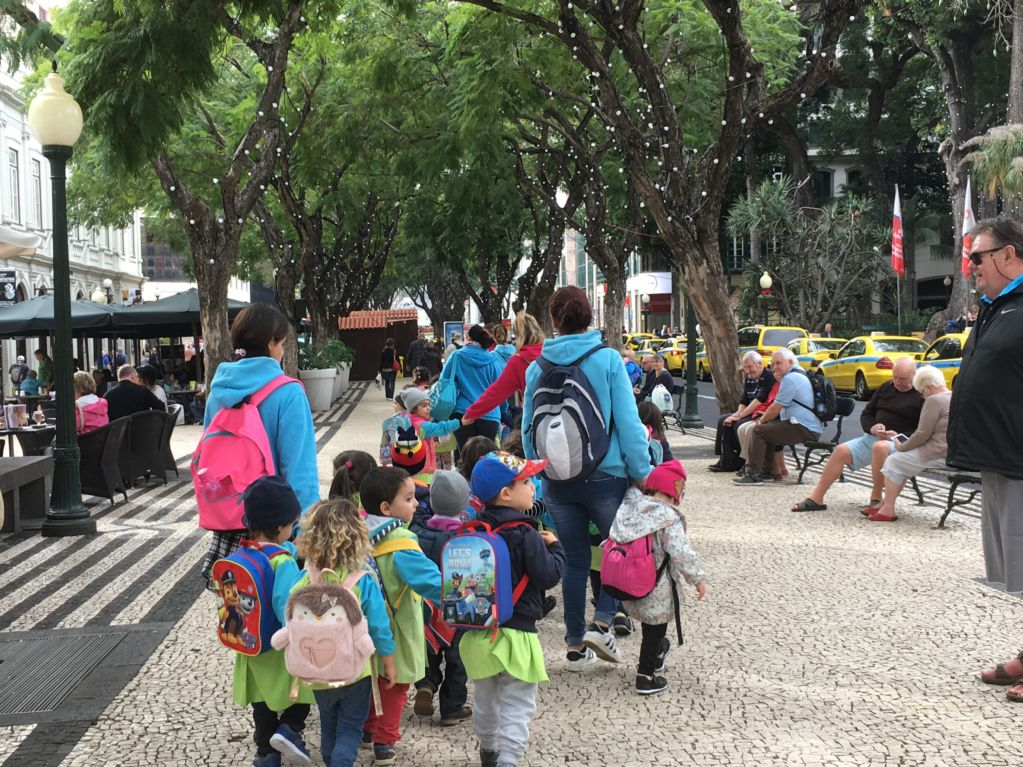 Exploring Funchal sights Funchal kindergarten walking