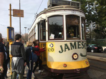 Lisbon tram 28 stop