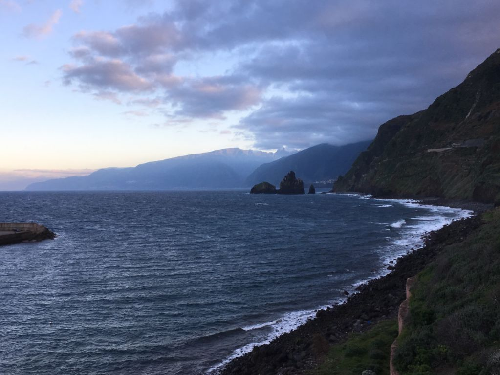 Driving in Madeira north coast, Porto Moniz