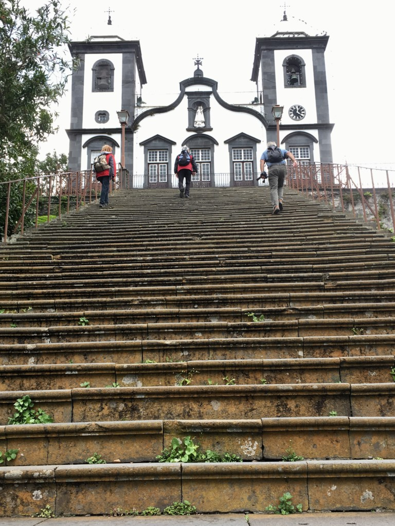 Monte church steps Madeira