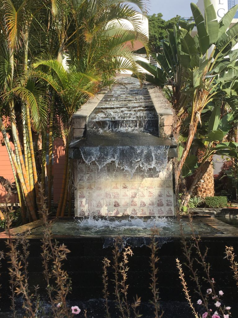 Royal Savoy Funchal garden and waterfall