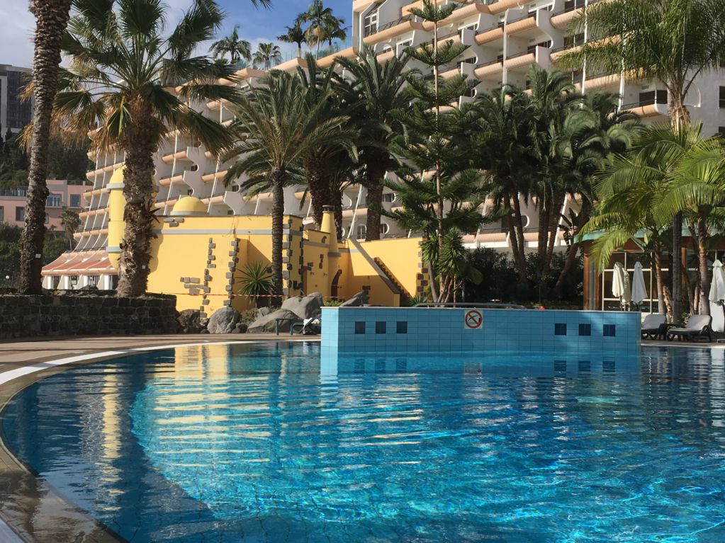 Royal Savoy Funchal pool area and castle
