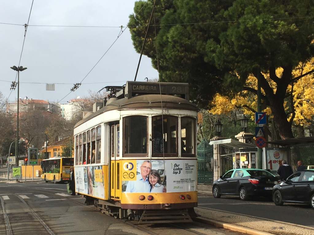 Touring Lisbon on tram 28