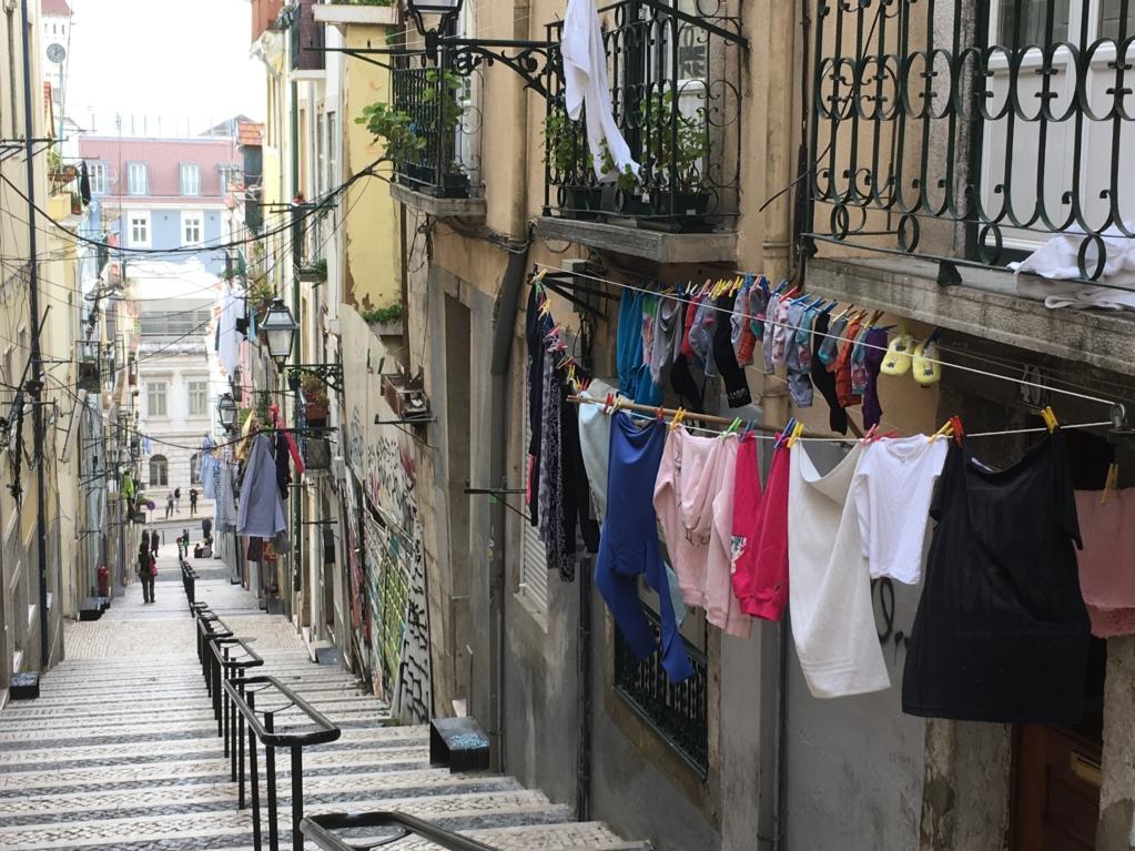 Touring Lisbon on tram 28 Bairro Alto street