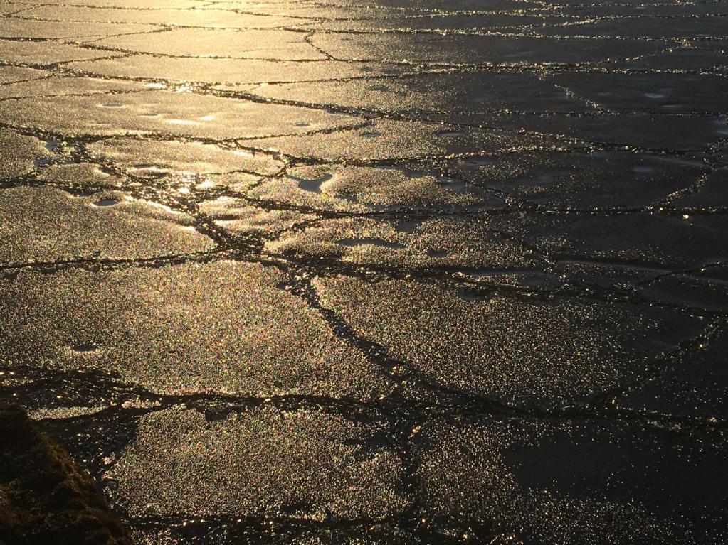 Finland winter, melting ice