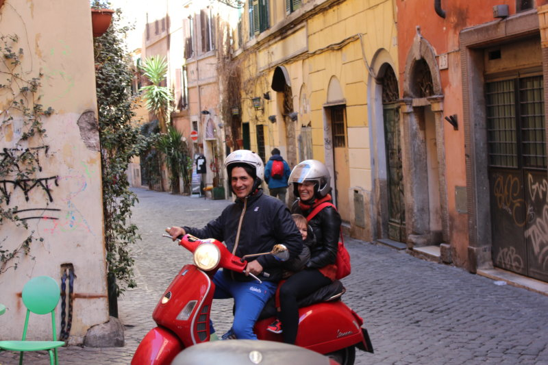 A Rome weekend on a scooter