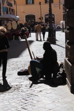 A Rome Street Musician