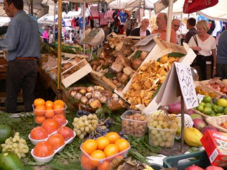 Campo dei Fiori market stalls