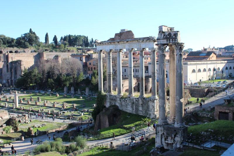 Forum Romanum temple ruins, Rome