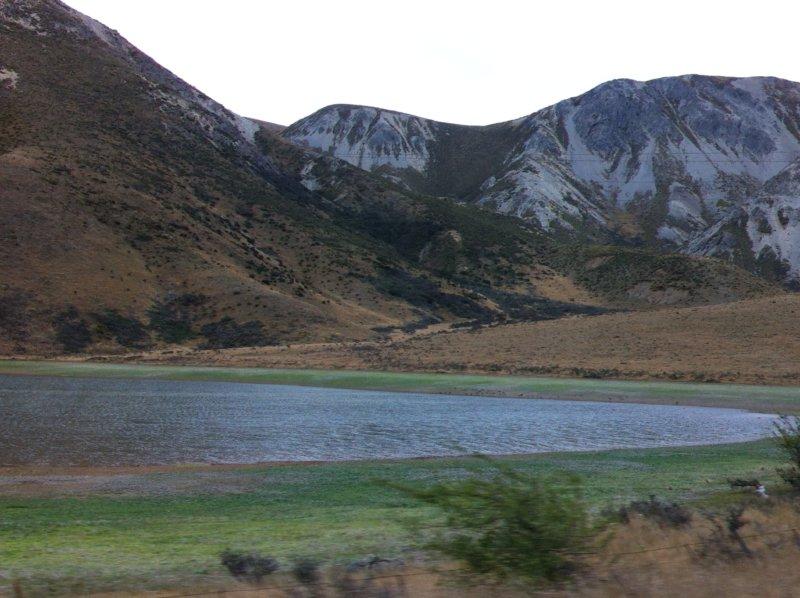 Mountain lake New Zealand South Island