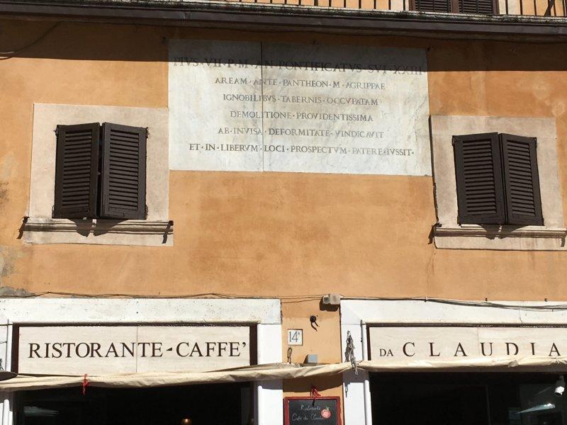 Piazza della Rotonda ristorante