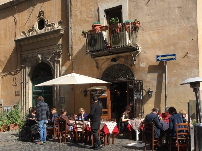 Piazza Navona side street restaurant, Rome