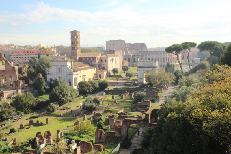Roman Forum and Colosseum