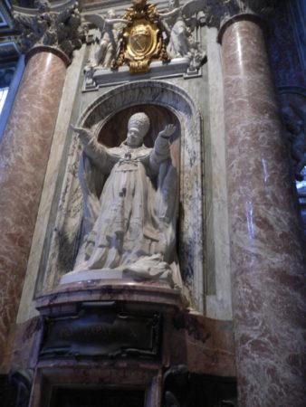 Saint Peter's Basilica pope statue