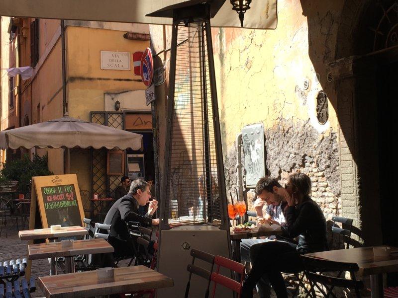 Trastevere cafe, Rome