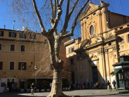 Trastevere square, Rome