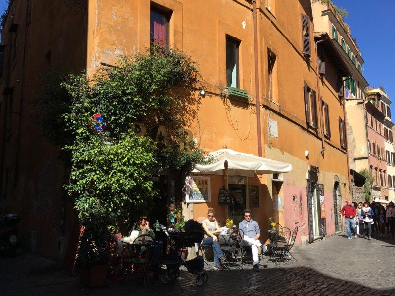 Trastevere street cafe, Rome