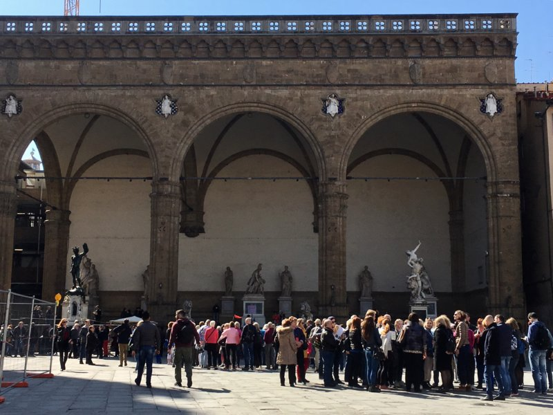 Loggia dei Lanzi from Piazza Signoria