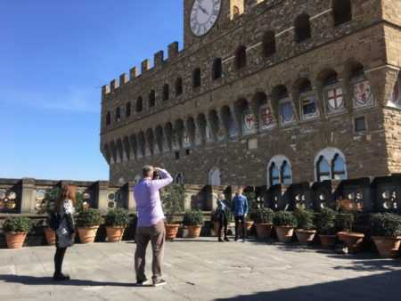 Palazzo Vecchio from Uffici roof terrace