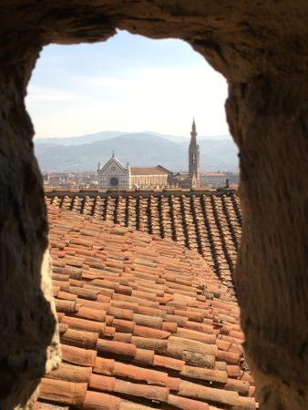 Palazzo Vecchio view to Santa Croce