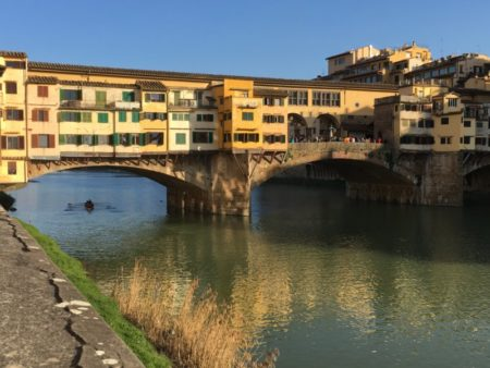 Ponte Vecchio from the riverbank