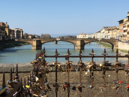 River Arno and Ponte Vecchio locks