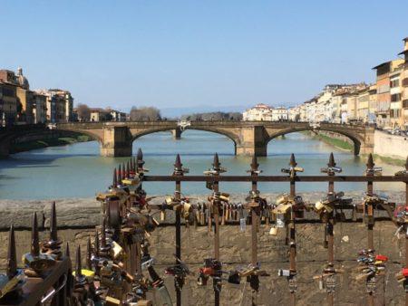 River Arno and Ponte Vecchio locks