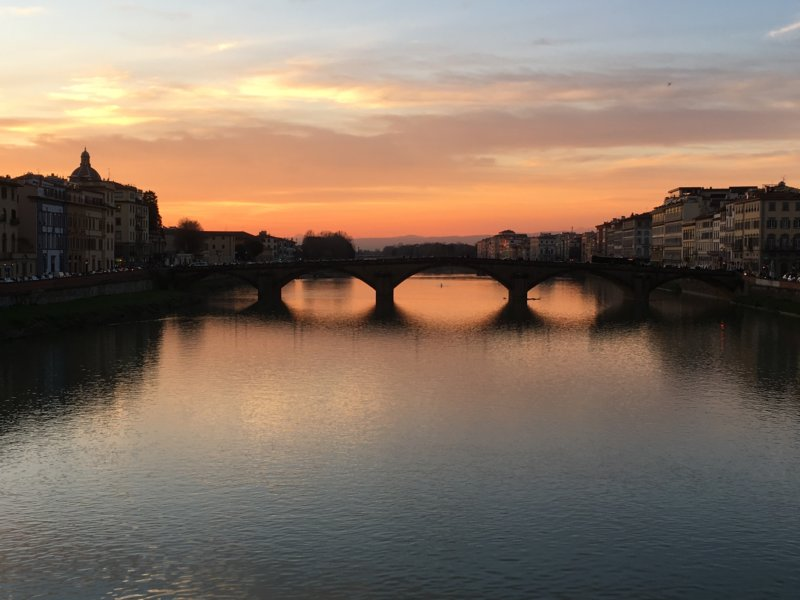 Ponte della Carraia at sunset