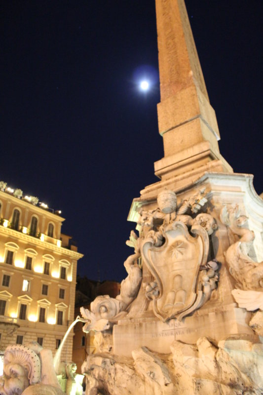 Rome's Centro Storico in moonlight