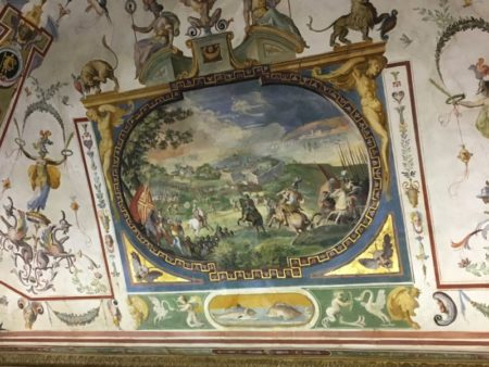 Uffici ceiling painting Florence