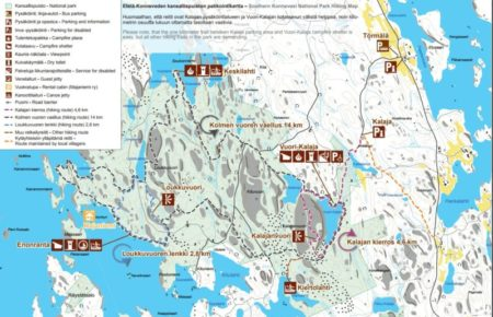 Southern Konnevesi National Park Hiking Map