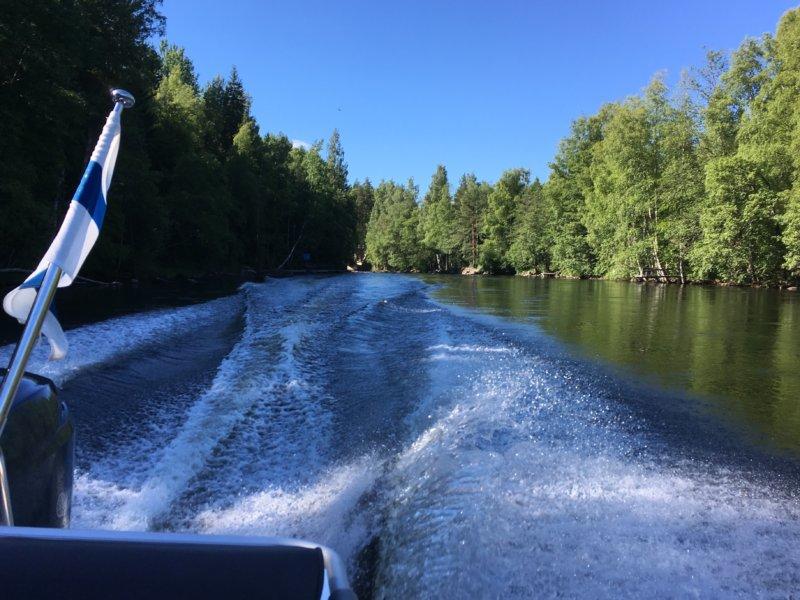 Konnekoski by boat
